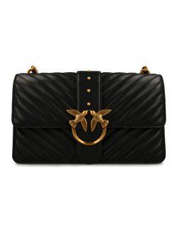 Pinko - Mala crna torba sa štepovima - 1P221Z-Y6XV-Z99 1P221Z-Y6XV-Z99
