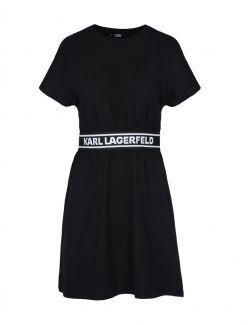 Karl Lagerfeld - Pamučna haljina sa logo-trakom - 211W1361-999 211W1361-999