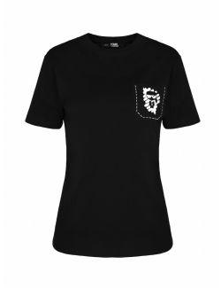 Karl Lagerfeld - K/Ikonik pamučna majica sa džepom - 211W1718-999 211W1718-999