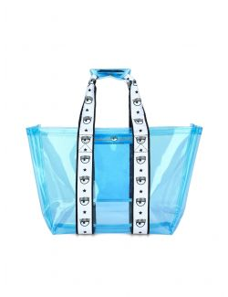 Chiara Ferragni - Logomania plastična torba - 21PE-CFBAG006 AQUARIUS 21PE-CFBAG006 AQUARIUS