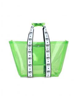Chiara Ferragni - Logomania plastična torba - 21PE-CFBAG006 GREEN 21PE-CFBAG006 GREEN