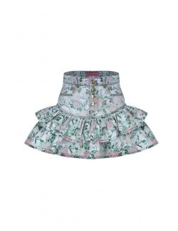 Chiara Ferragni - Suknja sa karnerima u cvetnom printu - 21PE-CFST051 DENIM 21PE-CFST051 DENIM