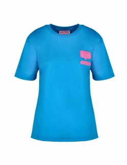 Chiara Ferragni - Plava majica sa logom - 21PE-CFT117 AQUARIUS 21PE-CFT117 AQUARIUS