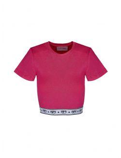 Chiara Ferragni - Kratka šik pink majica - 21PE-CFT119 PINK 21PE-CFT119 PINK