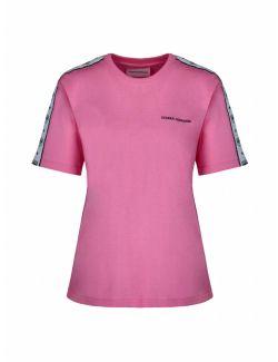 Chiara Ferragni - Pink majica sa prugastim logotipom - 21PE-CFT124 PINK 21PE-CFT124 PINK