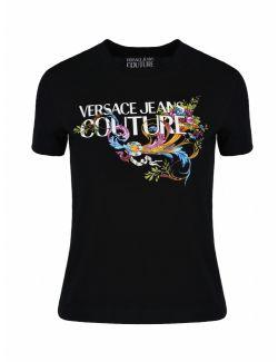 Versace Jeans Couture - Crna majica sa logom - B2HWA7KA-899 B2HWA7KA-899