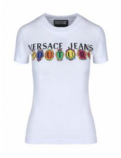 Versace Jeans Couture - Bela majica sa logom - B2HWA7PA-003 B2HWA7PA-003