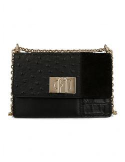 Furla - Crna torba kombinovana koža - BAFKACO A.0357 O6000 BAFKACO A.0357 O6000