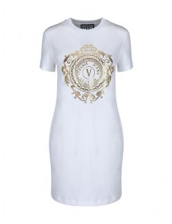 Versace Jeans Couture - Pamučna haljina sa logom - D2HWA4FA-K41 D2HWA4FA-K41