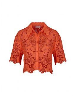 Ermanno Scervino - Oranž kratka bluza od čipke - D38ETCM22MAC-MF816 D38ETCM22MAC-MF816