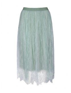 Ermanno Scervino - Čipkana suknja u mint zelenoj boji - D38ETGN05PIZ-MF802 D38ETGN05PIZ-MF802