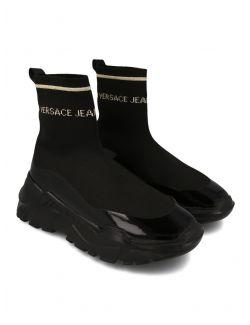Versace Jeans Couture - Duboke patike u stilu čarapa - E0VWASC5-M27 E0VWASC5-M27