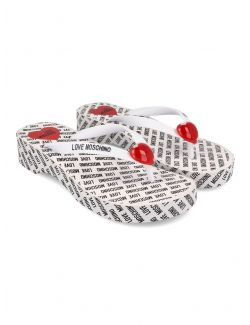 Love Moschino - Japanke sa logo-printom - JA28174G0CJT0100 JA28174G0CJT0100