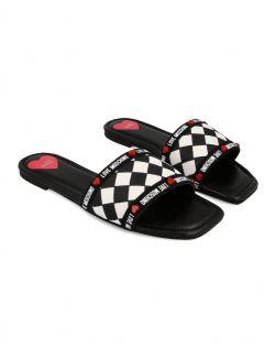 Love Moschino - Ravne papuče - JA28241C0CJM010A JA28241C0CJM010A