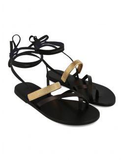 Ancient Greek Sandals - Ravne kozne sandale - LAFITIS-100 LAFITIS-100