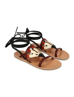 Ancient Greek Sandals - Ravne kozne sandale - LILLY-111 LILLY-111