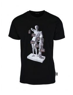 Roberto Cavalli Sport - Crna majica sa printom - MYX04T-5051 MYX04T-5051