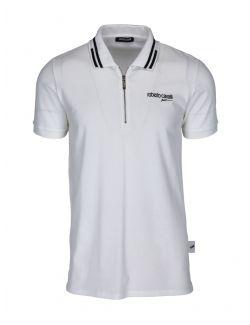 Roberto Cavalli Sport - Bela polo majica sa zipom - MYX28T-53 MYX28T-53