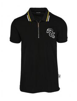 Roberto Cavalli Sport - Crna polo majica sa zipom - MYX29T-5051 MYX29T-5051