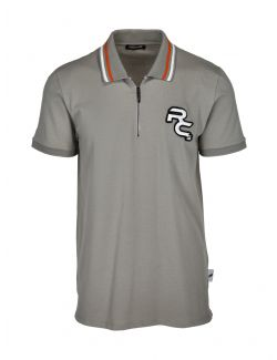 Roberto Cavalli Sport - Siva polo majica sa zipom - MYX29T-5063 MYX29T-5063