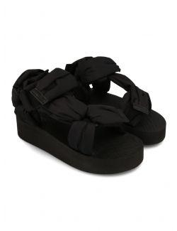 Red Valentino - Ravne sandale sa platformom - VQ0S0F49REG-0NO VQ0S0F49REG-0NO