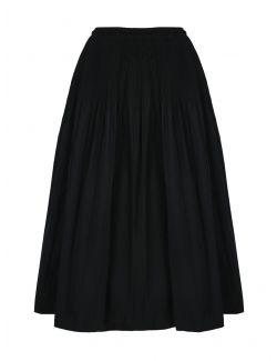 Red Valentino - Crna suknja sa naborima - VR0RAG041FP-0NO VR0RAG041FP-0NO