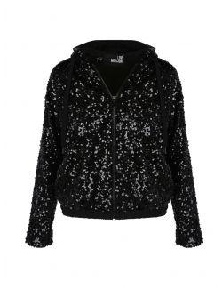 Love Moschino - Crni duks jaknica sa šljokicama - W 3 405 00 M 4265-C74 W 3 405 00 M 4265-C74