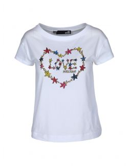Love Moschino - Pamučna majica sa printom morskih zvezda - W 4 F30 2L E 1951-A00 W 4 F30 2L E 1951-A00