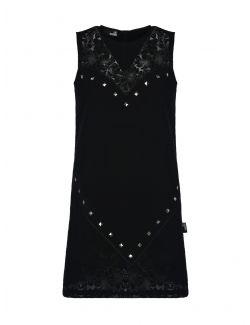 Love Moschino - Kratka crna haljina sa V izrezom - W V I81 01 T 113A-C74 W V I81 01 T 113A-C74