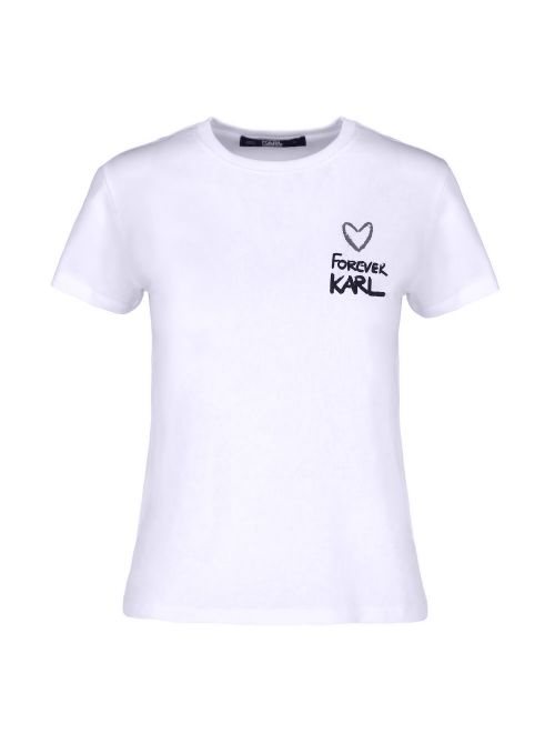 Karl Lagerfeld - Forever Karl pamučna majica - 205W1702-100 205W1702-100