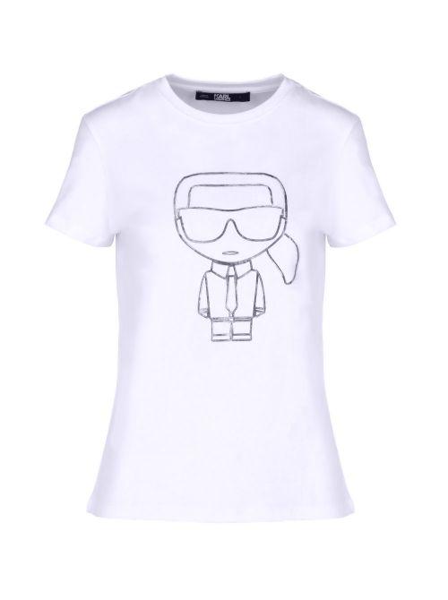 Karl Lagerfeld - Ikonik Karl Outline pamučna majica - 210W1703-100 210W1703-100