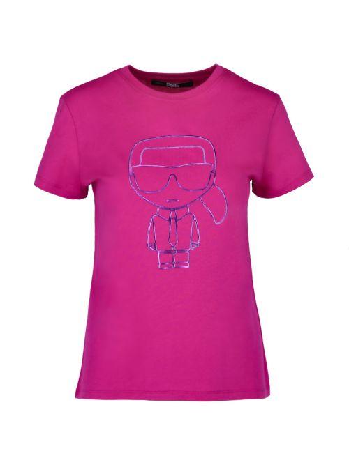 Karl Lagerfeld - Ikonik Karl Outline pamučna majica - 210W1703-569 210W1703-569