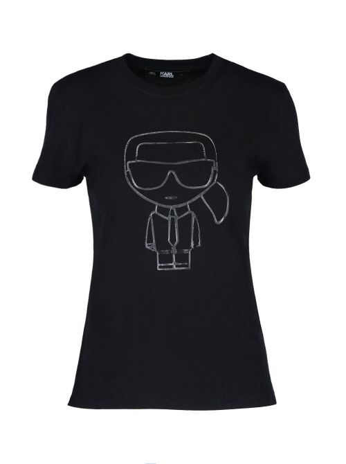 Karl Lagerfeld - Ikonik Karl Outline pamučna majica - 210W1703-999 210W1703-999