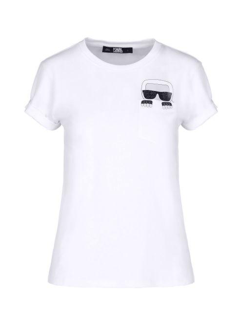 Karl Lagerfeld - Ikonik Karl pamučna majica sa džepom - 210W1720-100 210W1720-100