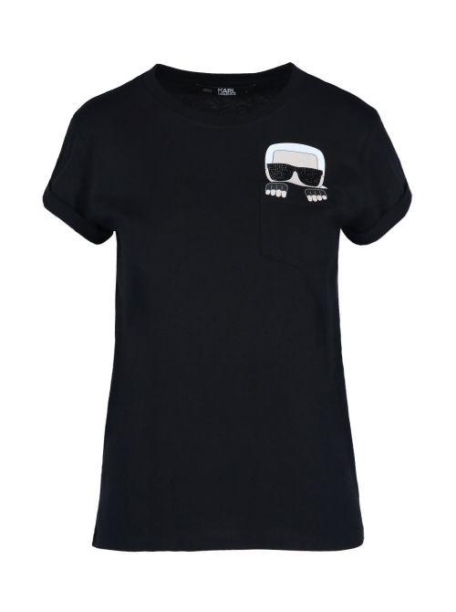 Karl Lagerfeld - Ikonik Karl pamučna majica sa džepom - 210W1720-999 210W1720-999
