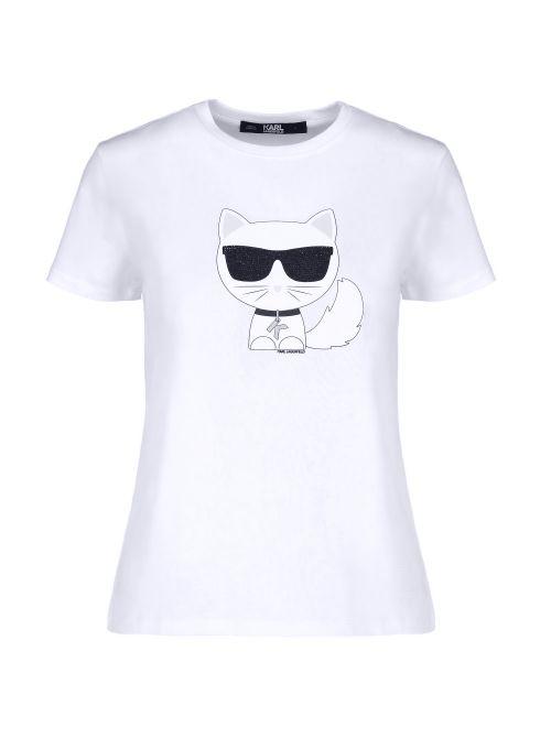 Karl Lagerfeld - Ikonik Choupette pamučna majica - 210W1723-100 210W1723-100