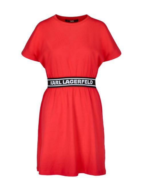 Karl Lagerfeld - Pamučna haljina sa logo-trakom - 211W1361-537 211W1361-537