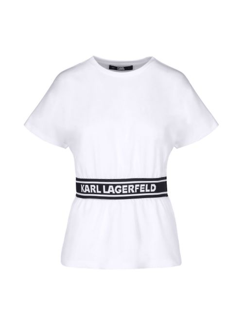 Karl Lagerfeld - Pamučna majica sa logo-trakom - 211W1705-100 211W1705-100