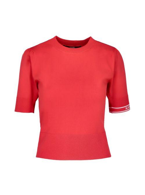 Karl Lagerfeld - Tanki džemper sa kratkim rukavima - 211W2003-537 211W2003-537