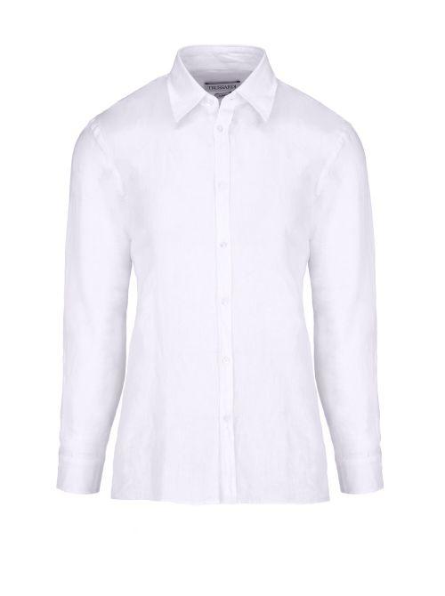 Trussardi - Košulja od lana - 52C00212-1T002248-W001 52C00212-1T002248-W001