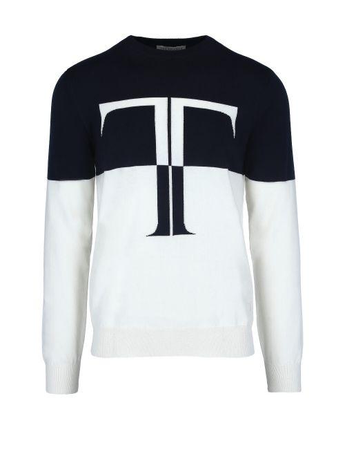 Trussardi - Tanki džemper sa logom - 52M00479-0F000669-W002 52M00479-0F000669-W002