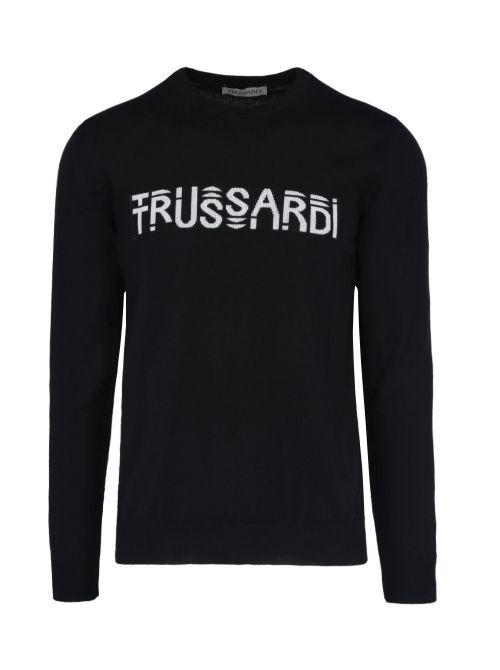 Trussardi - Tanki džemper sa logom - 52M00484-0F000471-K299 52M00484-0F000471-K299