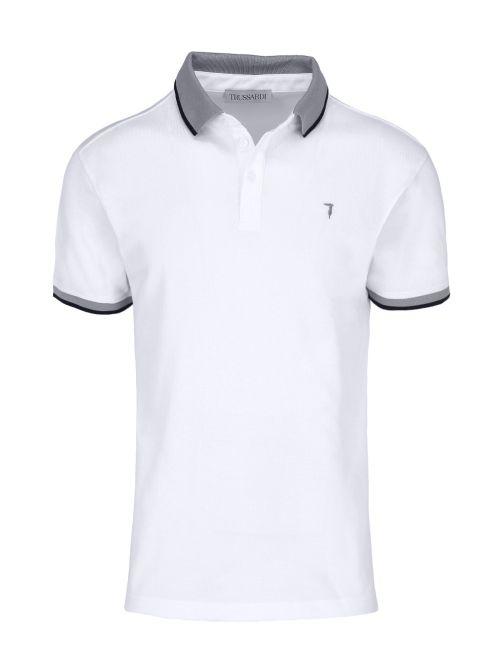 Trussardi - Polo majica sa dugmićima - 52T00491-1T003600-W001 52T00491-1T003600-W001