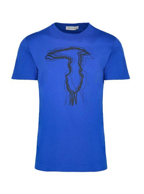 Trussardi - Pamučna majica sa printom - 52T00502-1T003610-U260 52T00502-1T003610-U260