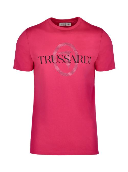 Trussardi - Pamučna majica sa printom - 52T00507-1T003076-R154 52T00507-1T003076-R154