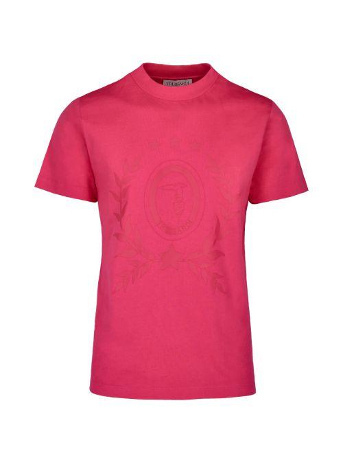 Trussardi - Pamučna majica sa printom - 52T00508-1T005309-R154 52T00508-1T005309-R154