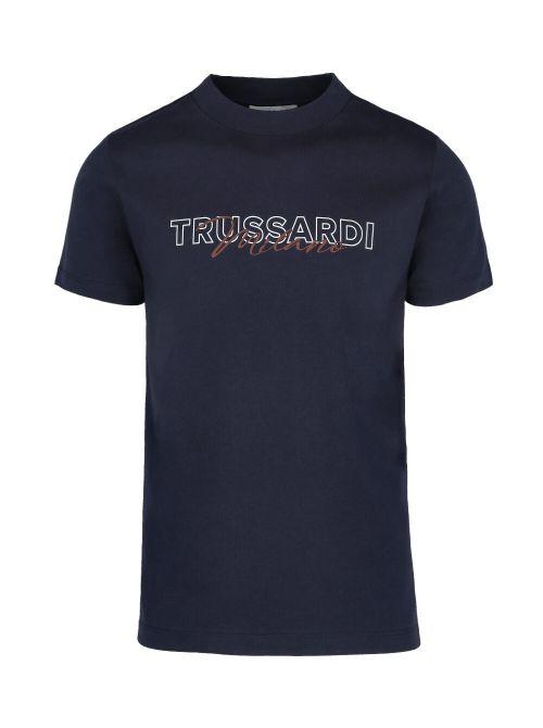 Trussardi - Pamučna majica sa printom - 52T00524-1T005345-U290 52T00524-1T005345-U290