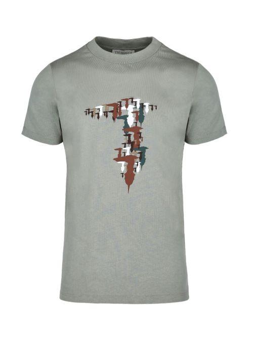 Trussardi - Pamučna majica sa printom - 52T00525-1T005345-G216 52T00525-1T005345-G216