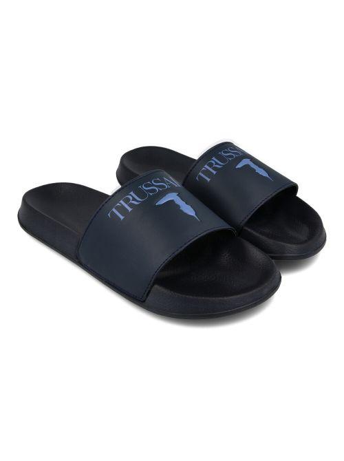 Trussardi - Gumene papuče sa logom - 77A00353-9Y099998-U290 77A00353-9Y099998-U290