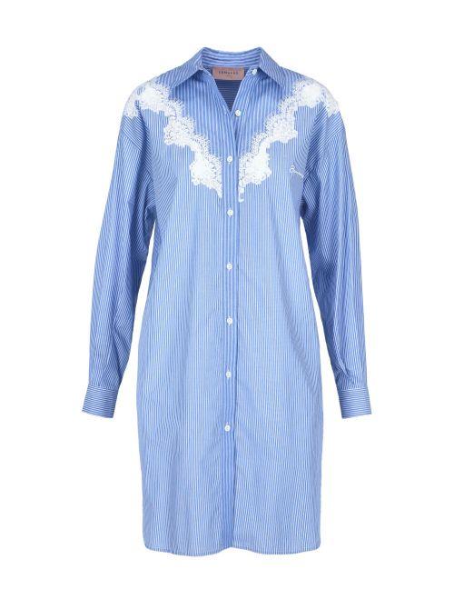 Ermanno Scervino - Košulja-haljina sa vezom - D38ETAB13RIG-MF037 D38ETAB13RIG-MF037